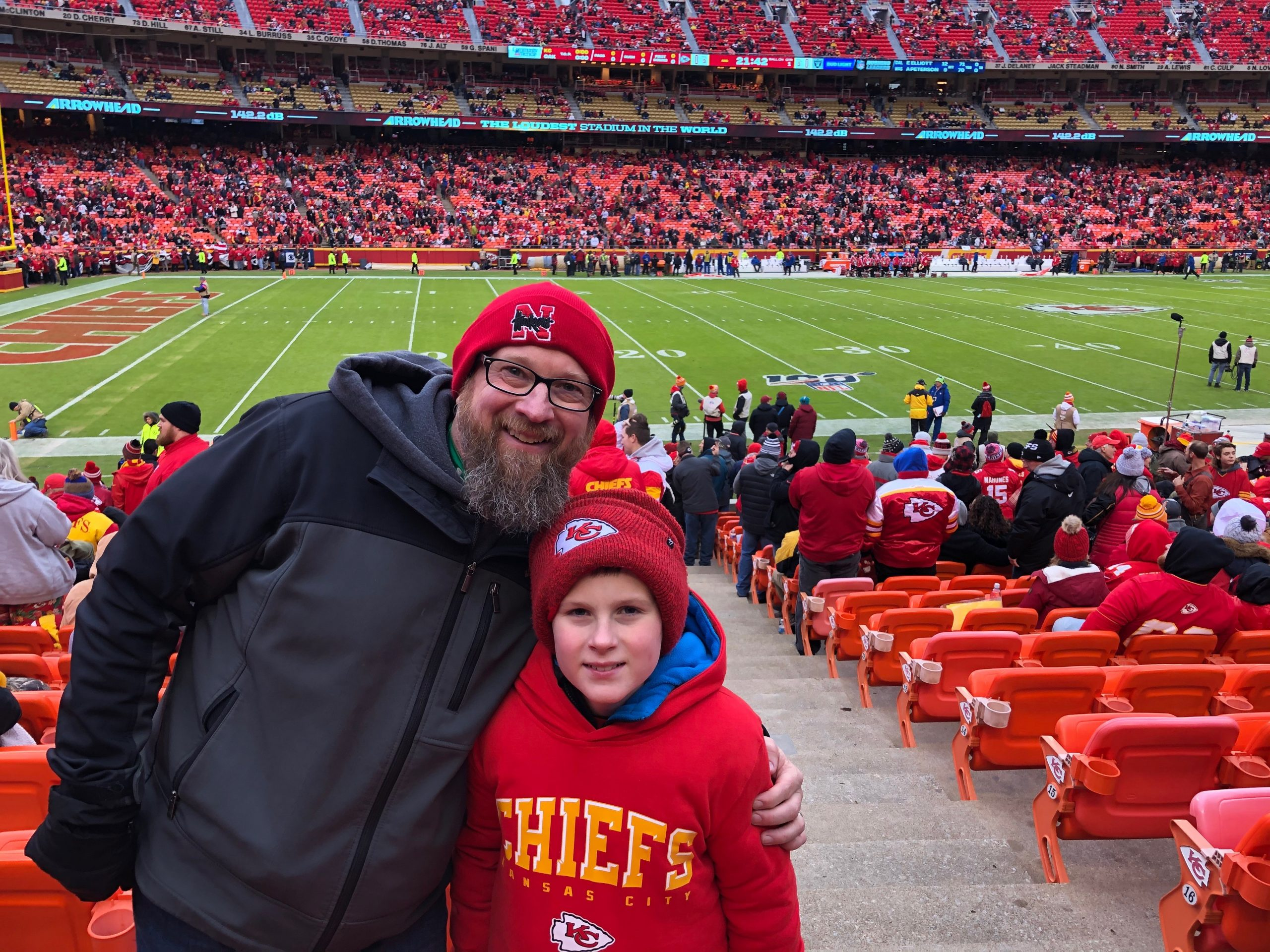 jeff at chiefs game